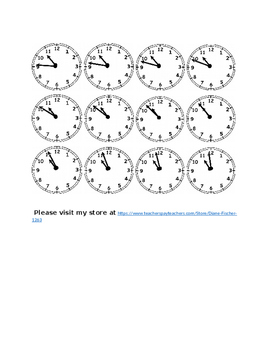 Clocks to the Minute - Ten O'Clock Times