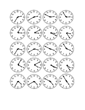 Clocks to the Nearest Five Minutes