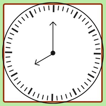 Clocks with Space to Write Numbers Templates Clip Art Commercial Use