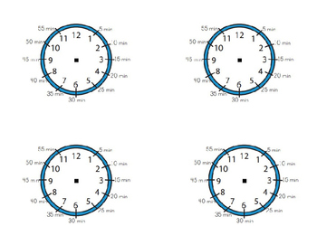 Clocks with minutes