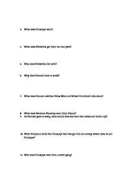 Clockwork Three Prereading Activity and Quizzes