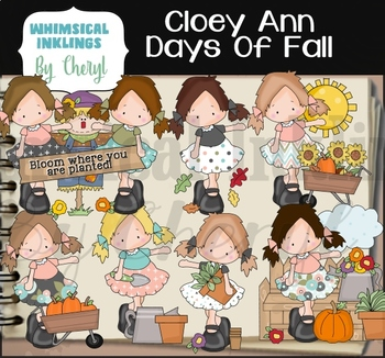 Cloey Ann Days of Fall Clipart Collection
