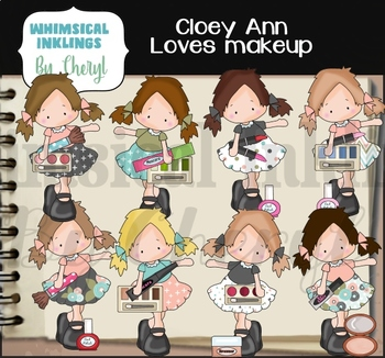 Cloey Ann Loves Makeup Clipart Collection