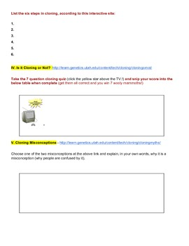 Clone a Mouse in this Webquest!