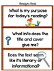 Close Reading Activities & Solutions
