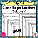Close Edge Borders Bubble BW Frames (40 PNG) for Commercia