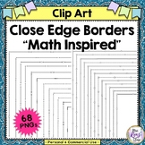 Close Edge Borders Math MEGA Set 34 Portrait & 34 Landscap
