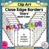 Close Edge Borders with Multicolor Stars in Color and BW C