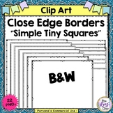 Close Edge Borders with Tiny Square Borders (Commercial Use Ok)