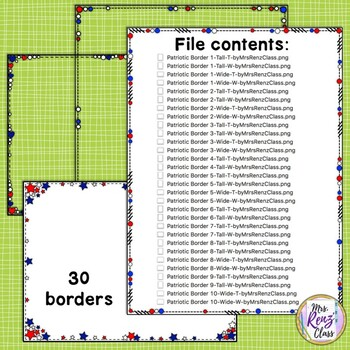 Close Edge Borders America and Frames Bright Red Patriotic American Themed