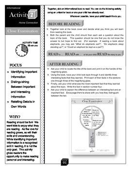 Close Examination – Key Details Activity