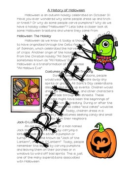 Close Read: A History of Halloween Informational Text