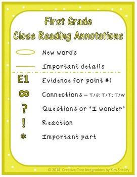 Close Read Annotation FREEBIE