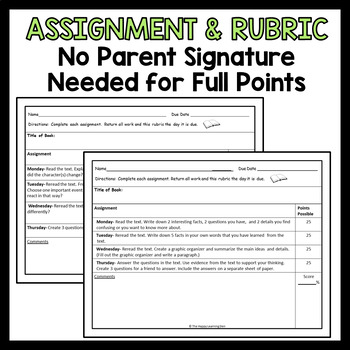 Close Read Assignment and Rubric BUNDLE