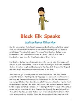 Close Read: Black Elk Speaks