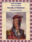 Poetry of Important Native American: Chief Tecumseh's Words of Wisdom