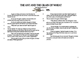 """Close Read Common Core Aligned """"The Ant and the Grain of W"""