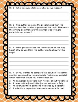 "Close Read ""Eruption"" (Informational Text)"
