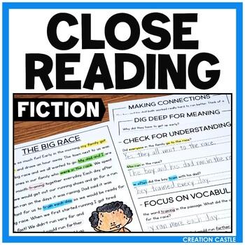Fiction Close Reading Passages