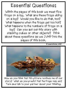 Close Read: Five Green & Speckled Frogs