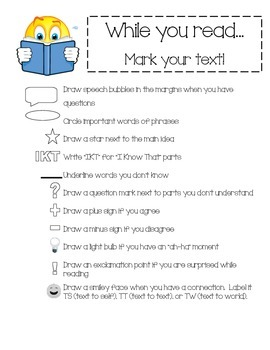 Close Read Graphic Organizers CCSS