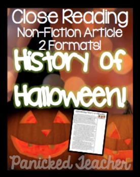Close Read: History of Halloween