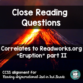 Close Reading Passages Volcanoes Worksheets & Teaching
