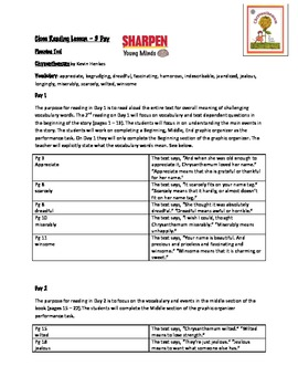 Close Read Lesson:Chrysanthemum with Text Dependent Questions