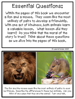Close Read: Lion and the Mouse