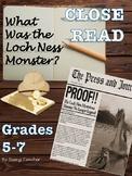 Loch Ness Monster Close Read