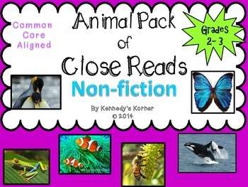 Close Read Non Fiction Mega Pack ~ Common Core Aligned