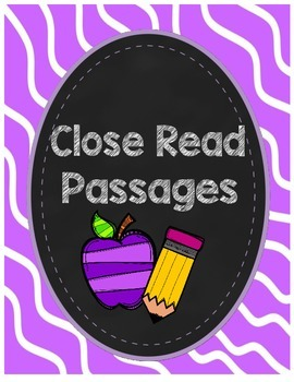 Close Read Passages