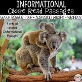 Close Read Passages: Australia + Distance Learning Version
