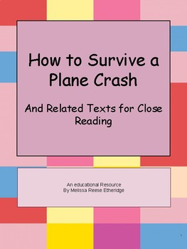 Close Read Passages Connected to the First Article: How to Survive a Plane Crash