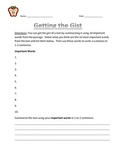 Get the Gist- Close Reading Worksheet
