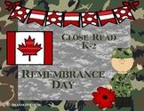 Close Read-Remembrance Day