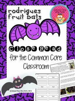 Close Read-Rodrigues Fruit Bats