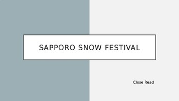 Close Read: Sapporo Snow Festival