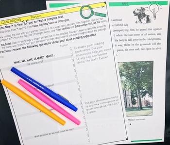 CLOSE READING UNIT : POWERPOINT, NOTES, TEACH, PRACTICE, TEST MIDDLE SCHOOL ELA