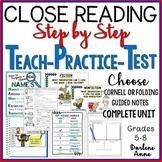 CLOSE READING UNIT: POWERPOINT, NOTES, TEACH, PRACTICE, TEST MIDDLE SCHOOL ELA
