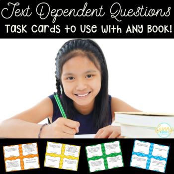 Close Read- Text Dependent Questions- Grades 1-5 ANY Book!