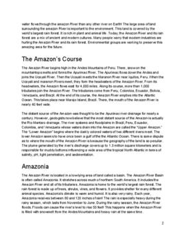 Close Read: The Amazon River