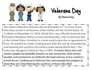 Close Read-Veterans Day