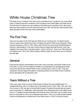 Close Read: White House Christmas Tree