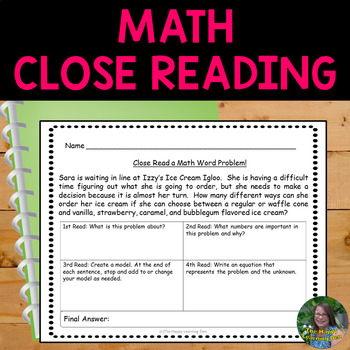 Math Close Reading