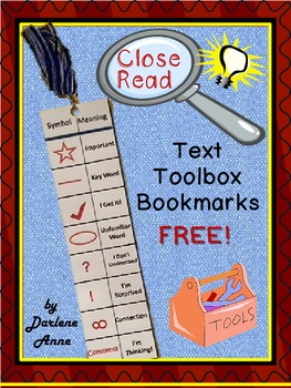 Close Read and Annotation Bookmarks: Free!