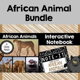 Close Read and Interactive Notebook Bundle- African Animals