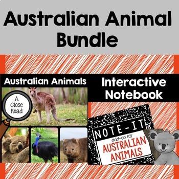 Close Read and Interactive Notebook Bundle- Australian Animals