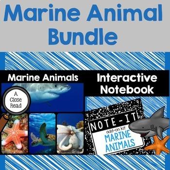 Close Read and Interactive Notebook Bundle- Marine Animals