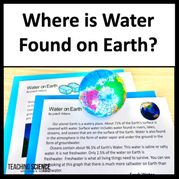 Close Read and Lab Where is Water Found on Earth? NGSS 2-ESS2-3